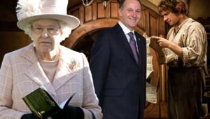 La reine d'Angleterre John Key Le Hobbit Peter Jackson