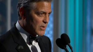 George Clooney à la cérémonie des Golden Globes le 11 janvier 2015.