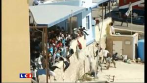 Heurts entre immigrés et population sur l'île de Lampedusa