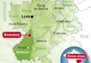 La ville d'Annonay en Ardèche.