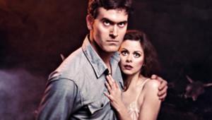 Bruce Campbell et Sarah York dans Evil Dead. Un film réalisé par Sam Raimi en 1979.