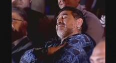 Diego Maradona endormi