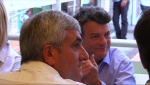 Hervé Morin et Jean-Louis Borloo, le 10 septembre 2011 à la Grande-Motte.