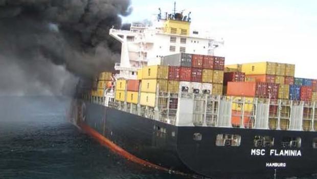 Le cargo accidenté MSC Flaminia.