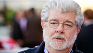 Le cinéaste américain George Lucas en novembre 2012