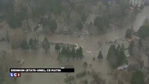 Etats-Unis : les images des pluies diluviennes dans l'Etat de Washington