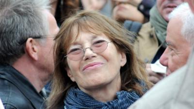 Jane Birkin lors d'un rassemblement en faveur des migrants en septembre 2015