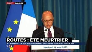 """Sécurité routière : """"Derrière les chiffres, il y a des drames"""", affirme Cazeneuve"""