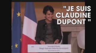 """""""Je suis Claudine Dupont !"""" : quand Najat Vallaud-Belkacem se moque des théories du complot"""