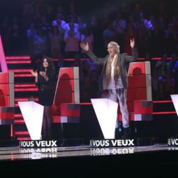 Jenifer et Louis Bertignac sur le plateau de The Voice