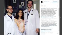 Salma Hayek Instagram hôpital
