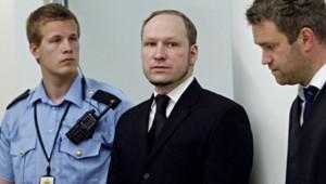 Anders Behring Breivik à son procès le 14 mai 2012