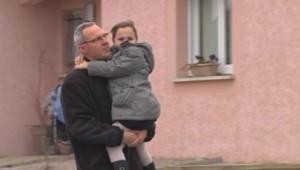 Christophe Grosjean, policier à Nancy, et sa fille Eva.