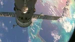 L'ISS flottant dans l'espace (10 octobre 2009)