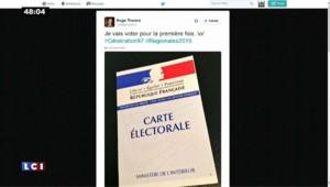 """""""Merci pour ce moment"""", le tweet provocateur de Léonard Trierweiler pour son premier vote"""