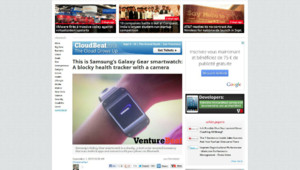 """Photo de la """"Galaxy Gear"""" de Samsung"""