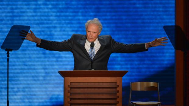 L'acteur et réalisateur Clint Eastwood lors de la convention républicaine de Tampa, en Floride (30 août 2012)