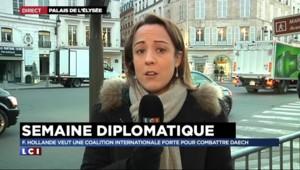 """Lutte contre Daech : """"Début du marathon diplomatique"""" pour Hollande avec la visite de Cameron"""