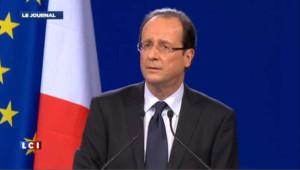 """""""Mon adversaire, c'est le monde de la finance"""", affirme Hollande"""