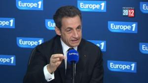 Nicolas Sarkozy ne s'est pas opposé à la diffusion via internet ou des réseaux sociaux d'etimations des résultats du premier tour de la présidentielle avant 20h. Europe 1, le 19/04/2012