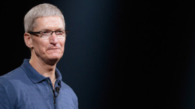 Tim Cook, le patron d&#039;Apple, en octobre 2012