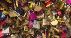 """Paris : les """"cadenas d'amour"""" du Pont des Arts définitivement retirés lundi"""