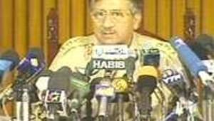 président Pakistan Musharraf cf de presse 08/10/01
