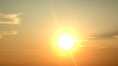 soleil-soir coucher ciel météo