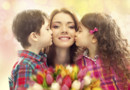 cadeau fleur mère fête enfant femme