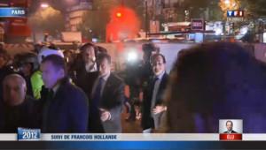 Hollande arrive à la Bastille: les images