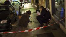Dijon : policiers sur les lieux où un homme a foncé sur des passants, 21/12/14