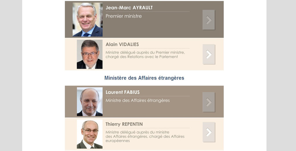 La déclaration du patrimoine des ministres en ligne le 15 avril 2013.