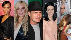 Tyra Banks Lindsay Lohan Charlie Sheen Katy Perry Lady Gaga