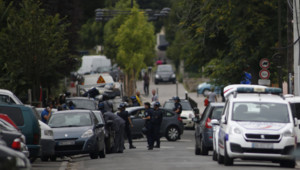 Une intervention anti-terroriste à Argenteuil le 21 juillet 2016.