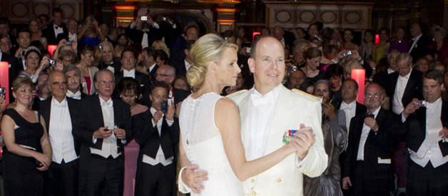 Les invités pour le diner et le bal après le mariage de Charlène et d'Albert