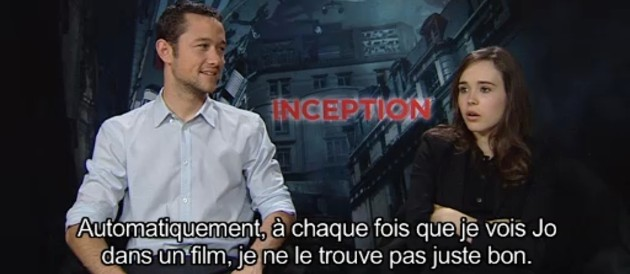 Inception - Interview Joseph Gordon-Levitt et Ellen Page