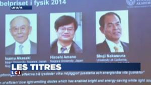 Le nobel de physique attribué aux trois inventeurs de la LED