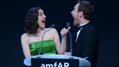 Marion Cotillard et Michael Fassbender, amfAR mai 2015