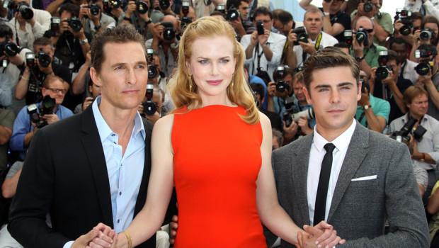 Nicole Kidman entournée de Matthew McConaughey et Zac Efron à Cannes 2012 pour le film Paperboy