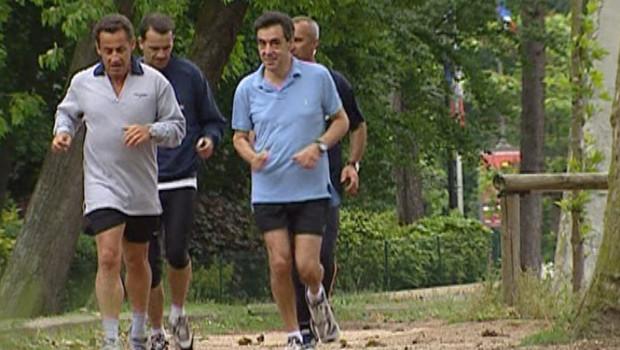 TF1-LCI : A peine nommé Premier ministre, François Fillon est allé chercher le 17 mai 2007 Nicolas Sarkozy à l'Elysée pour un jogging d'une heure dans le bois de Boulogne