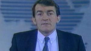 Jean-Pierre Pernaut lors de son premier journal télévisé sur TF1, il y a 25 ans.