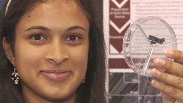 Une étudiante de 18 ans met au point un supercondensateur qui pourrait recharger un portable en 20 secondes.
