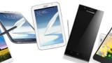 """Les """"phablets"""" : mini-tablettes et maxi-smartphones sont partout à Barcelone"""