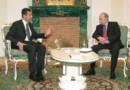 Archives : Bachar al-Assad (g.) et Vladimir Poutine (d.), en 2006