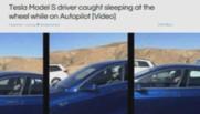 tesla homme endormi voiture autonome