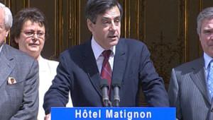 TF1 / LCI François Fillon devant les parlementaires UMP, le 22 mai 2007