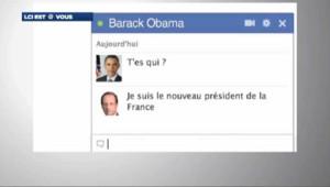Et si Sarkozy, Hollande et Obama se parlaient sur Facebook….