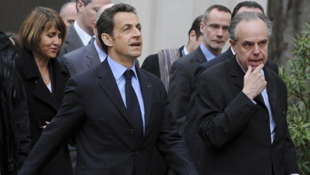 Frédéric Mitterrand aux côtés de Nicolas Sarkozy et Christine Albanel