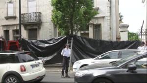 La maison où ont été retrouvés des restes humains, le 21 avril 2011.