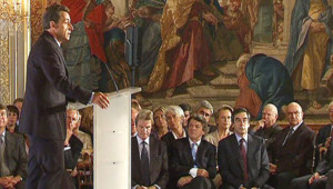 Nicolas Sarkozy à la conférence des ambassadeurs (27 août 2008)